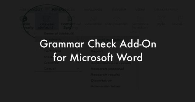 Word Grammar check add-On