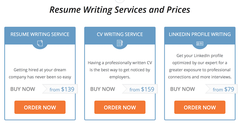 resume writing services cost