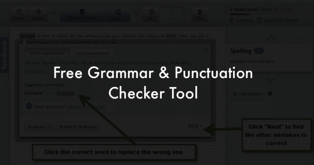 best tool for grammar punctuation correction